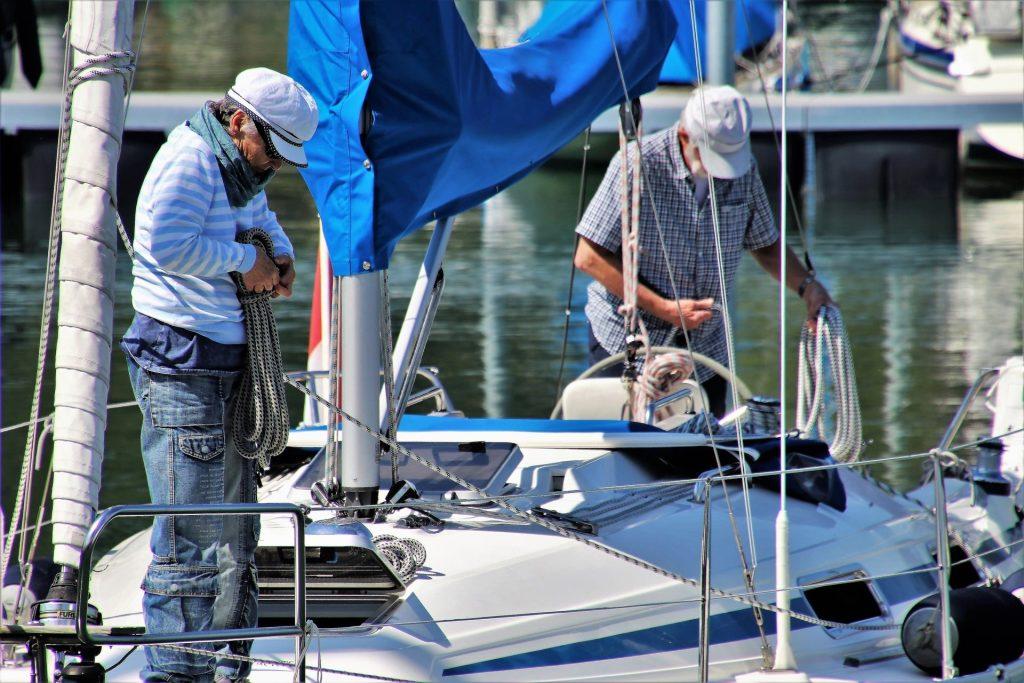 Preparazione imbarcazione